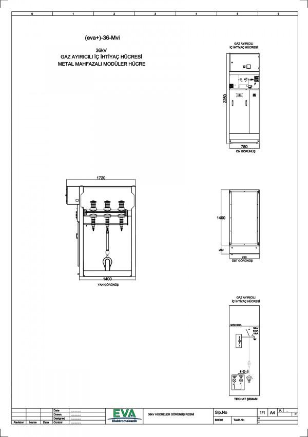 EVA+-36-Mvi Gaz Ayırıcılı İç İhtiyaç Hücresi (Metal Mahfazalı Modüler Hücre)