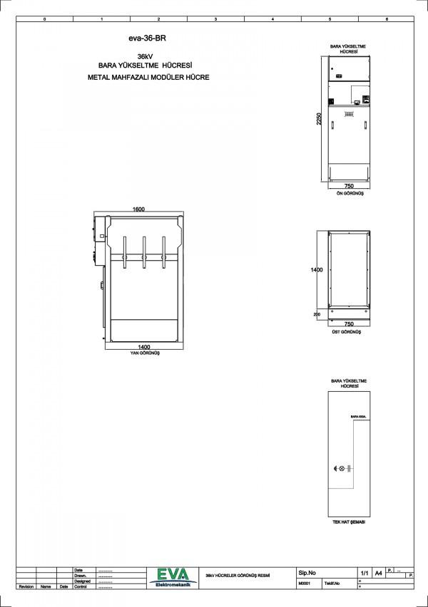 EVA-36-BR Bara Yükseltme Hücresi (Metal Mahfazalı Modüler Hücre)