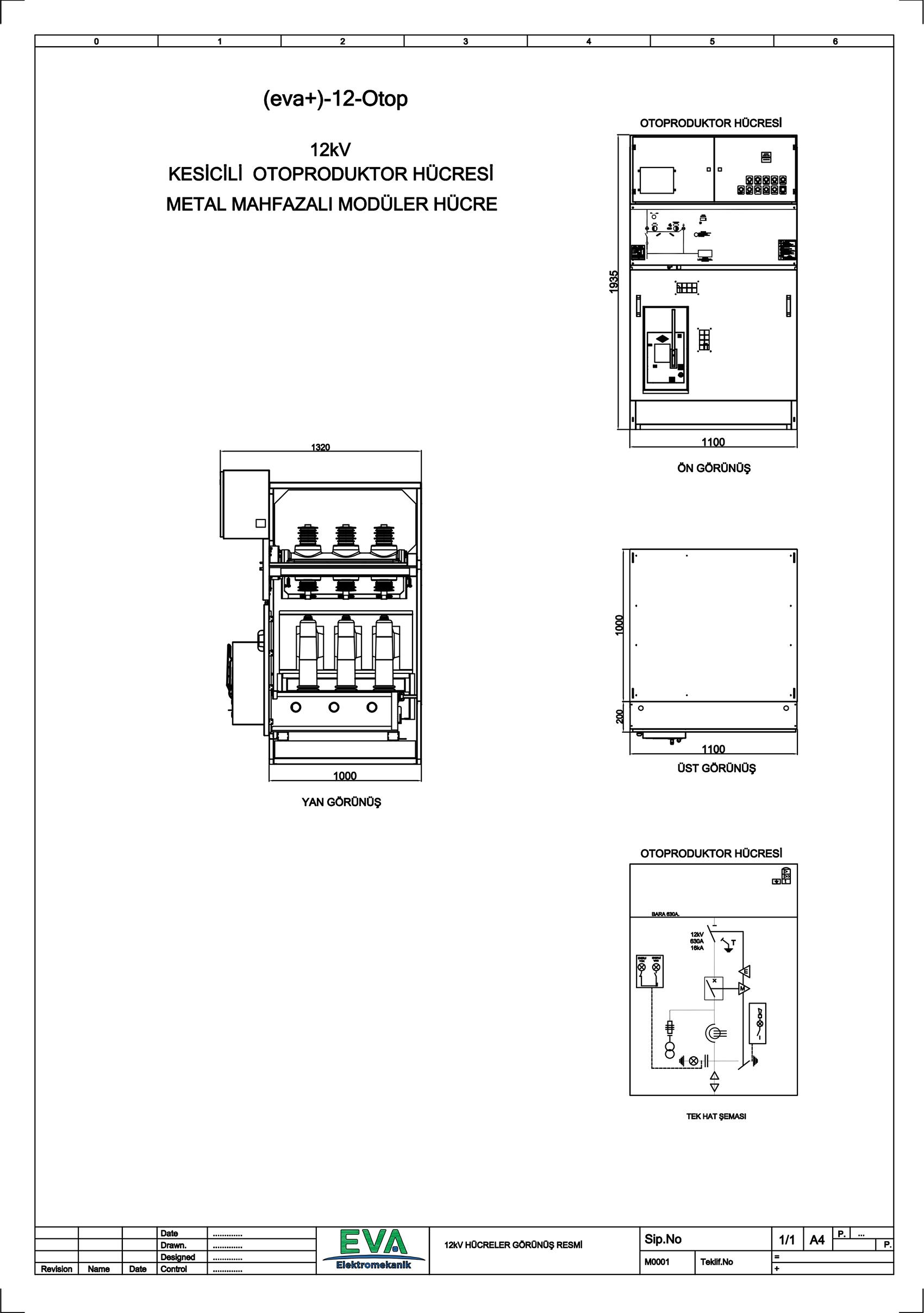 EVA+-12-OTOP Otoprodüktör Hücresi (Metal Mahfazalı Modüler Hücre)
