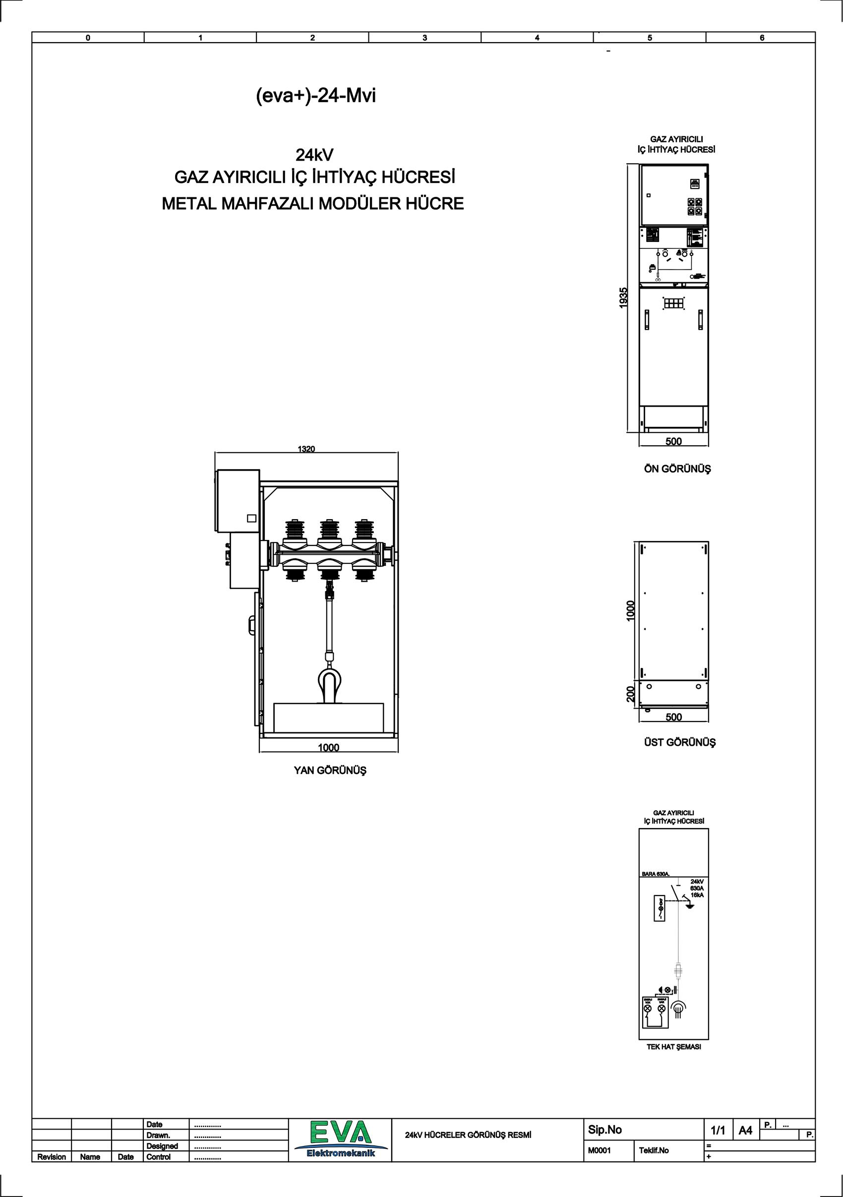 EVA+-24-Mvi Gaz Ayırıcılı İç İhtiyaç Hücresi (Metal Mahfazalı Modüler Hücre)