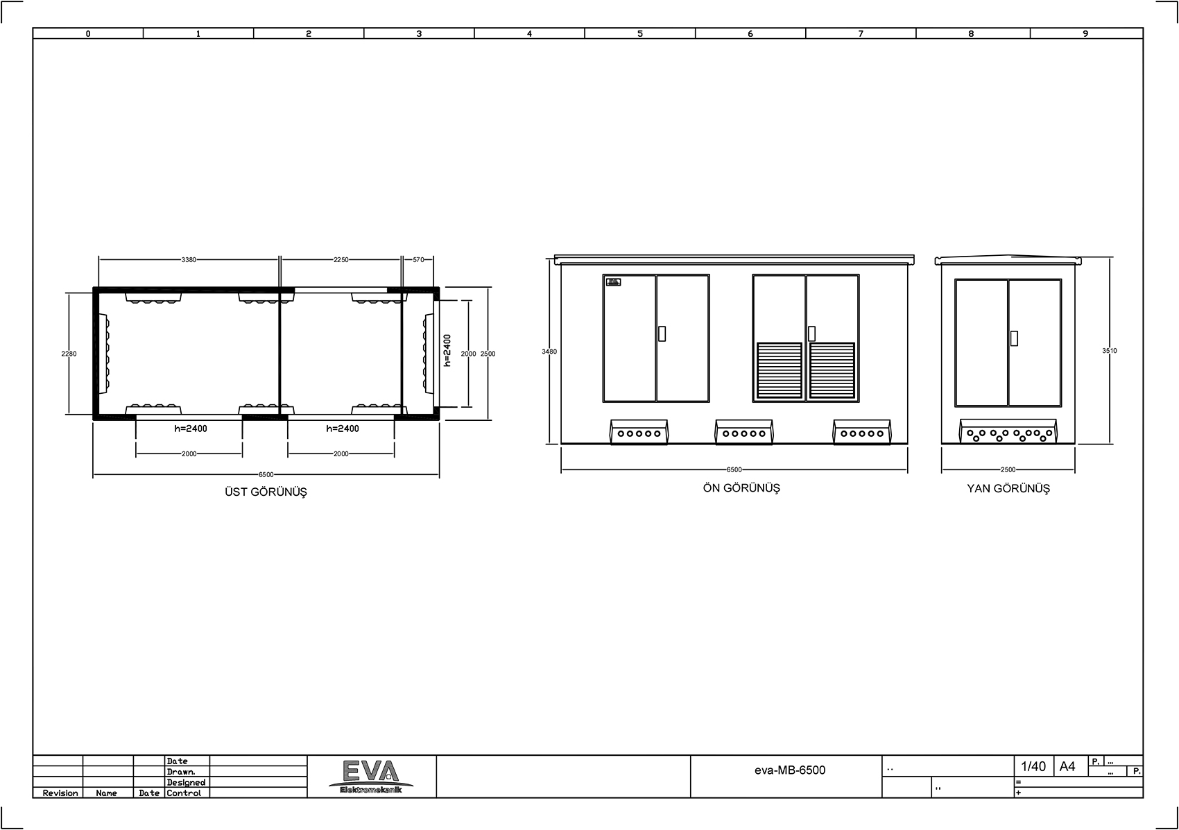 Monoblok Beton Köşk 6.500 x 2.500 x 3.530 mm