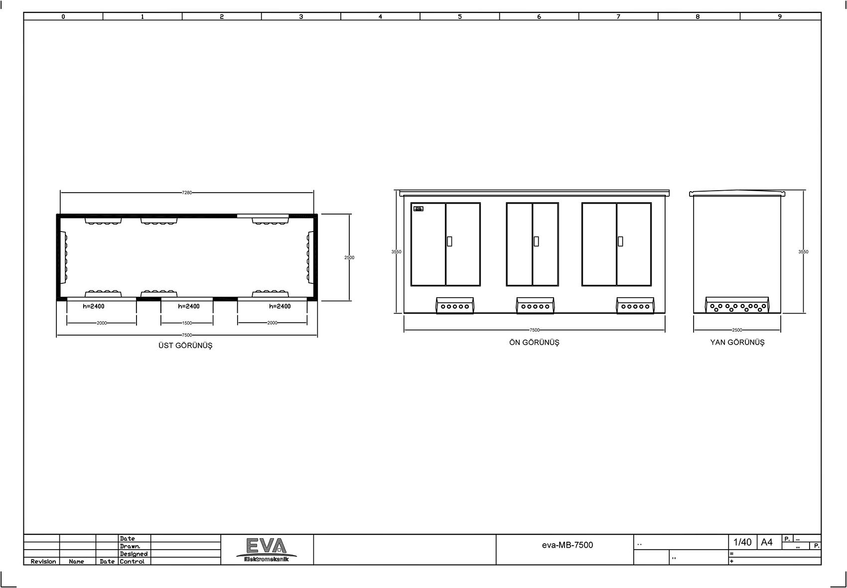 Monoblok Beton Köşk 7.500 x 2.500 x 3.530 mm