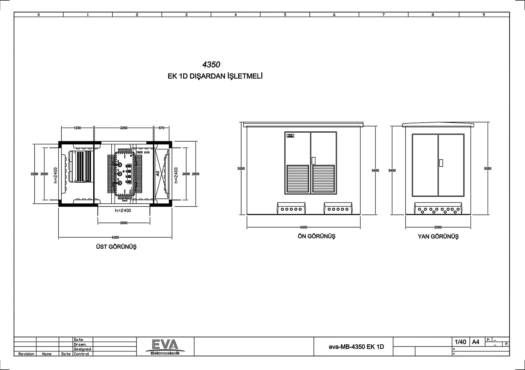 Monoblok Beton Köşk 4.350 x 2.500 x 3.530 mm