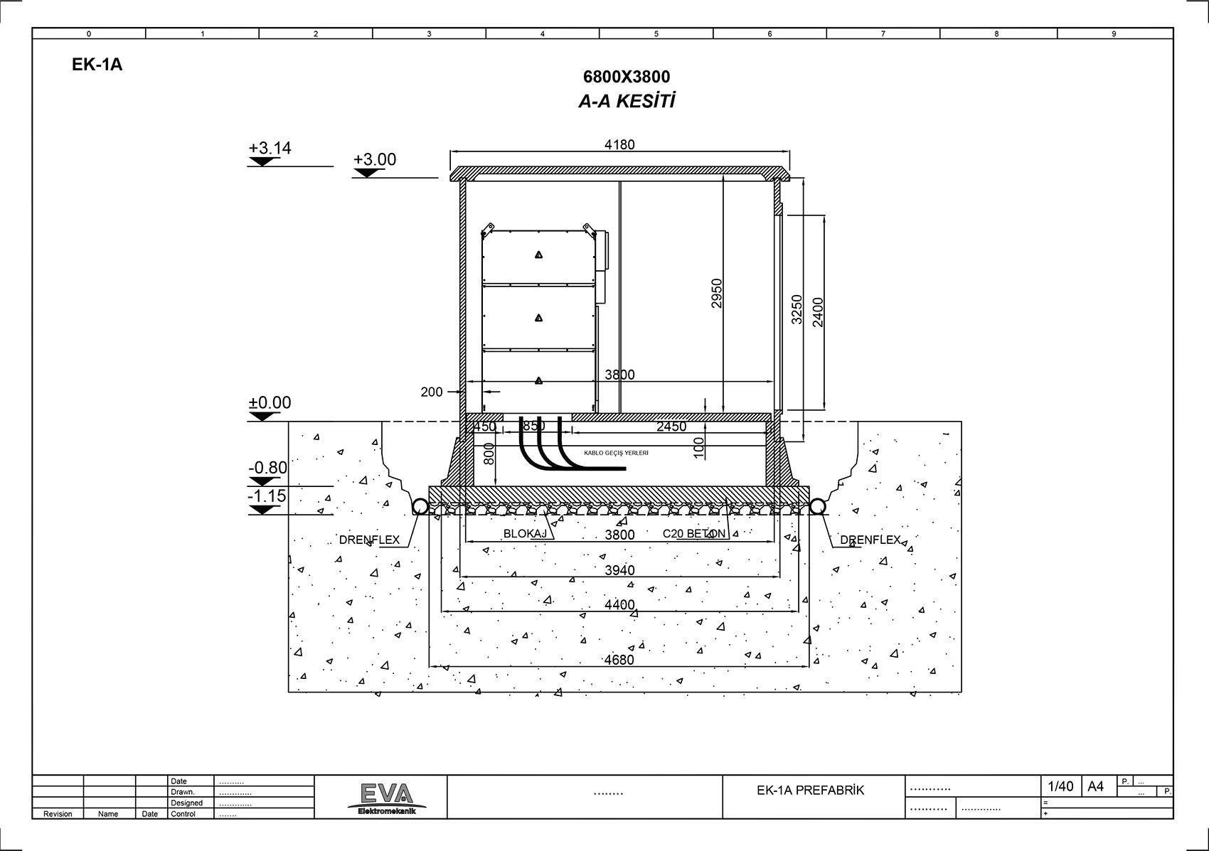 Prefabrik Beton Köşk 6.800x3800x3140mm