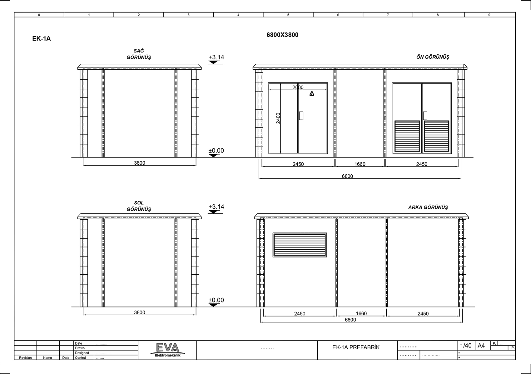 Prefabrik Beton Köşk 10.280x3.800x3.140mm